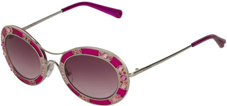 2ab66d13d2 Valentino Crystal-embellished Round Sunglasses