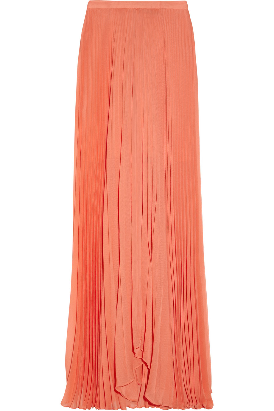 shannon pleated chiffon maxi skirt in pink