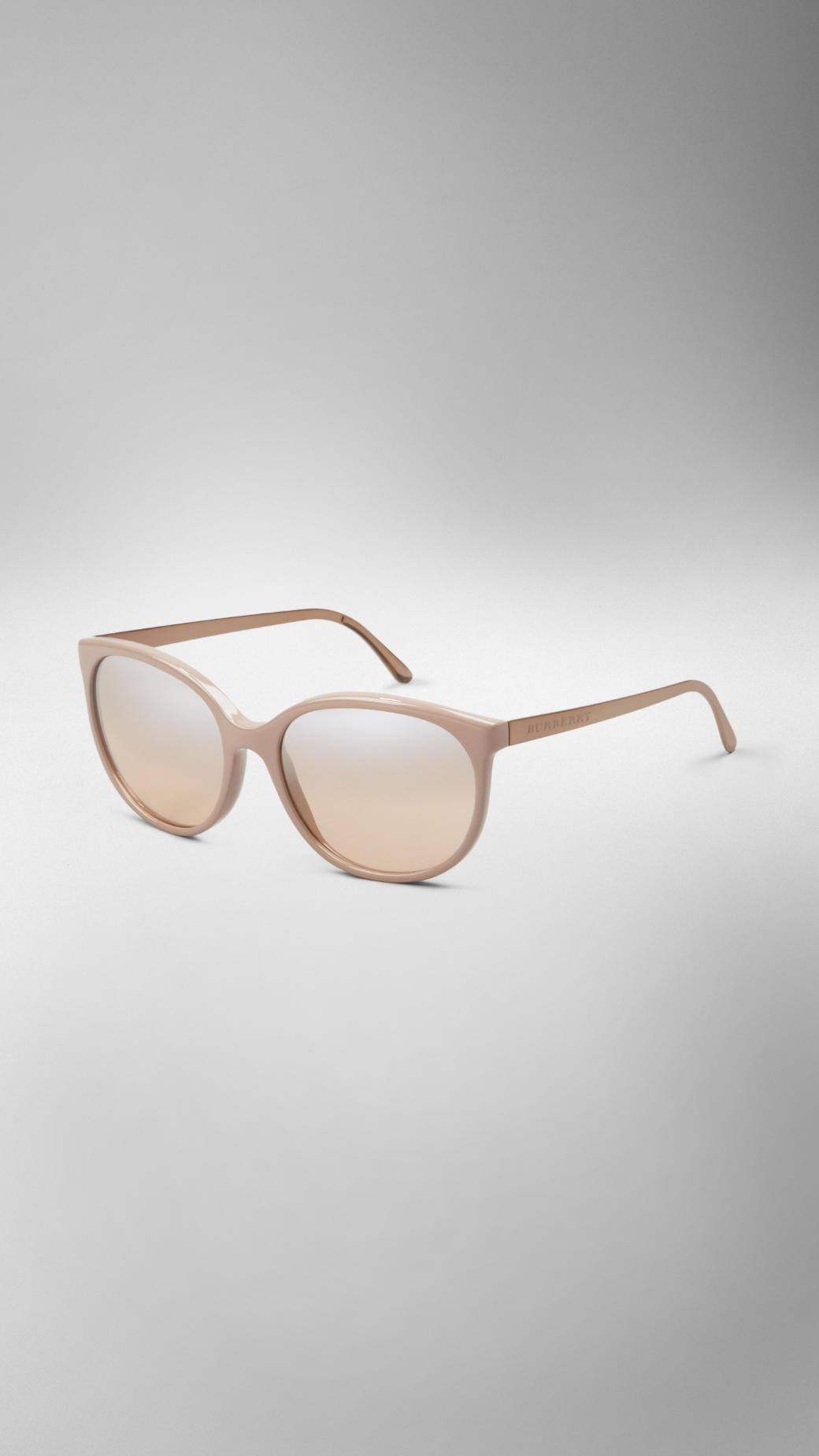 452d5e5f5d Burberry Spark Cat-Eye Sunglasses in Natural - Lyst