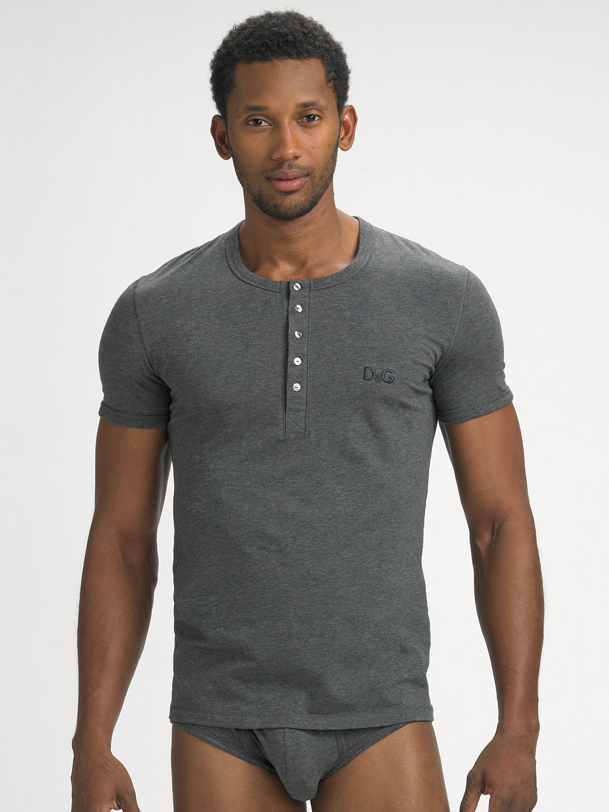 Mens Henley Short Sleeve Shirts