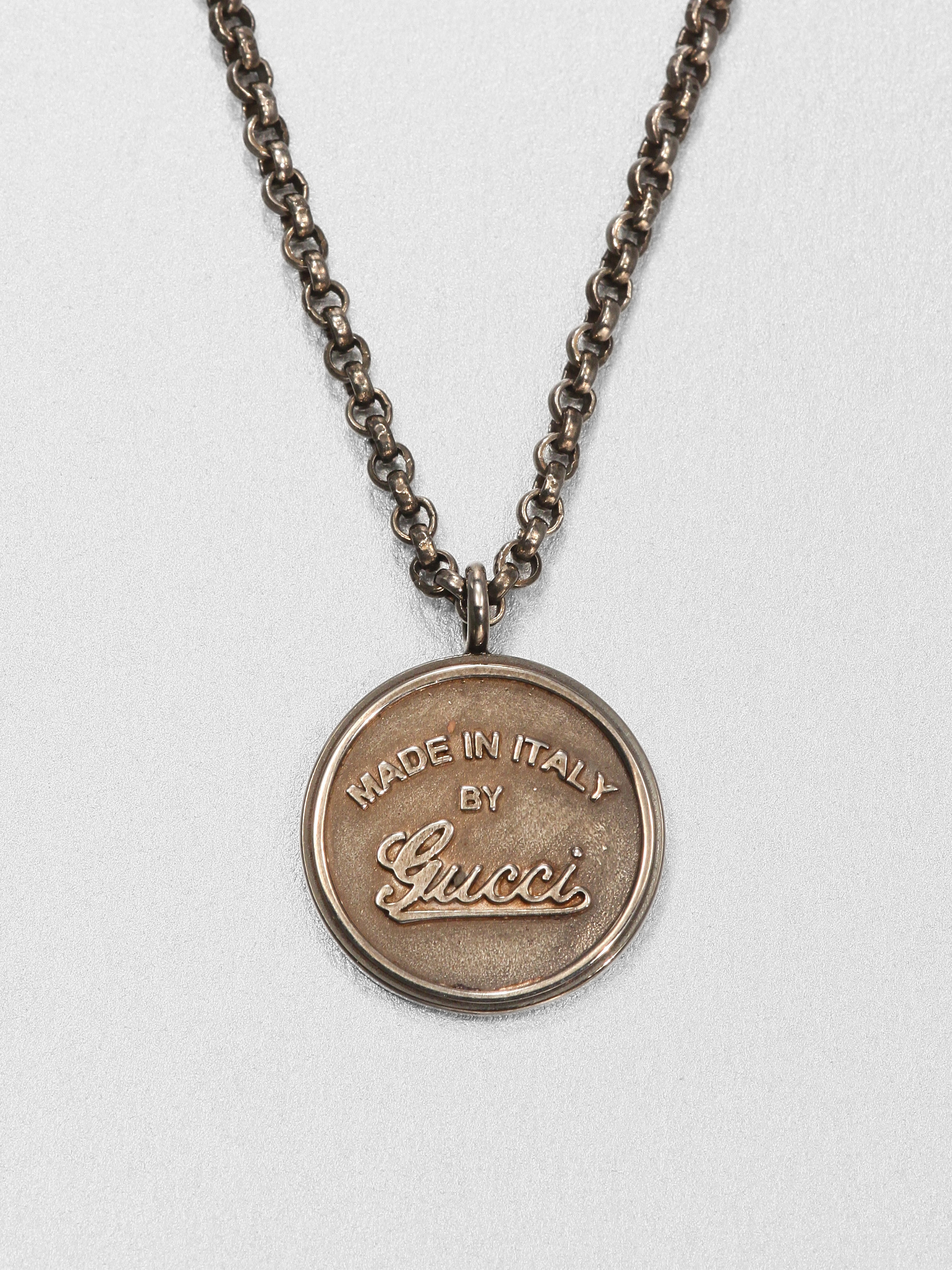 22198314a1f Lyst - Gucci Gg Craft Necklace in Metallic for Men