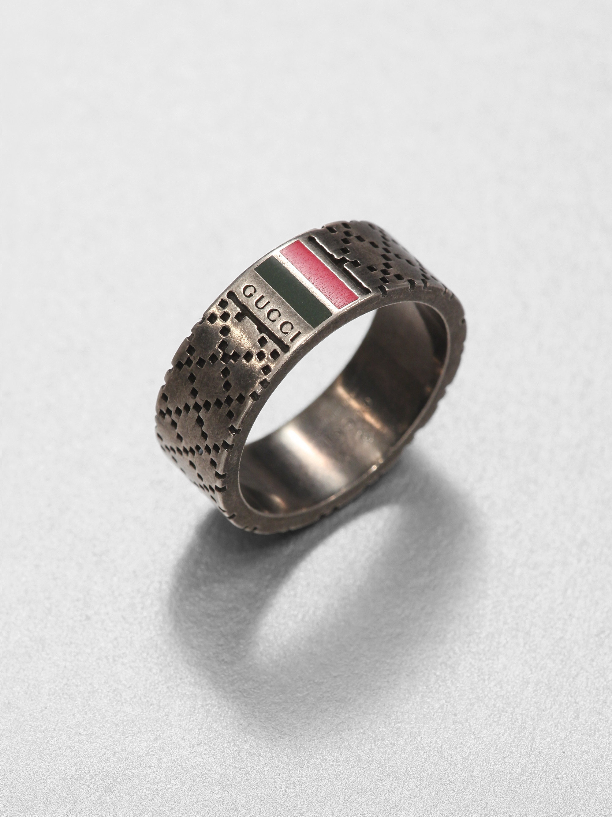 7be819fb91d Lyst - Gucci Sterling Silver Ring in Metallic for Men