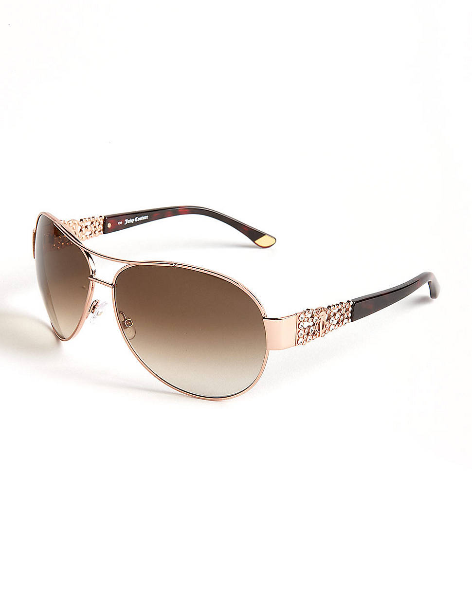 Lyst Juicy Couture Embellished Aviator Sunglasses In Pink