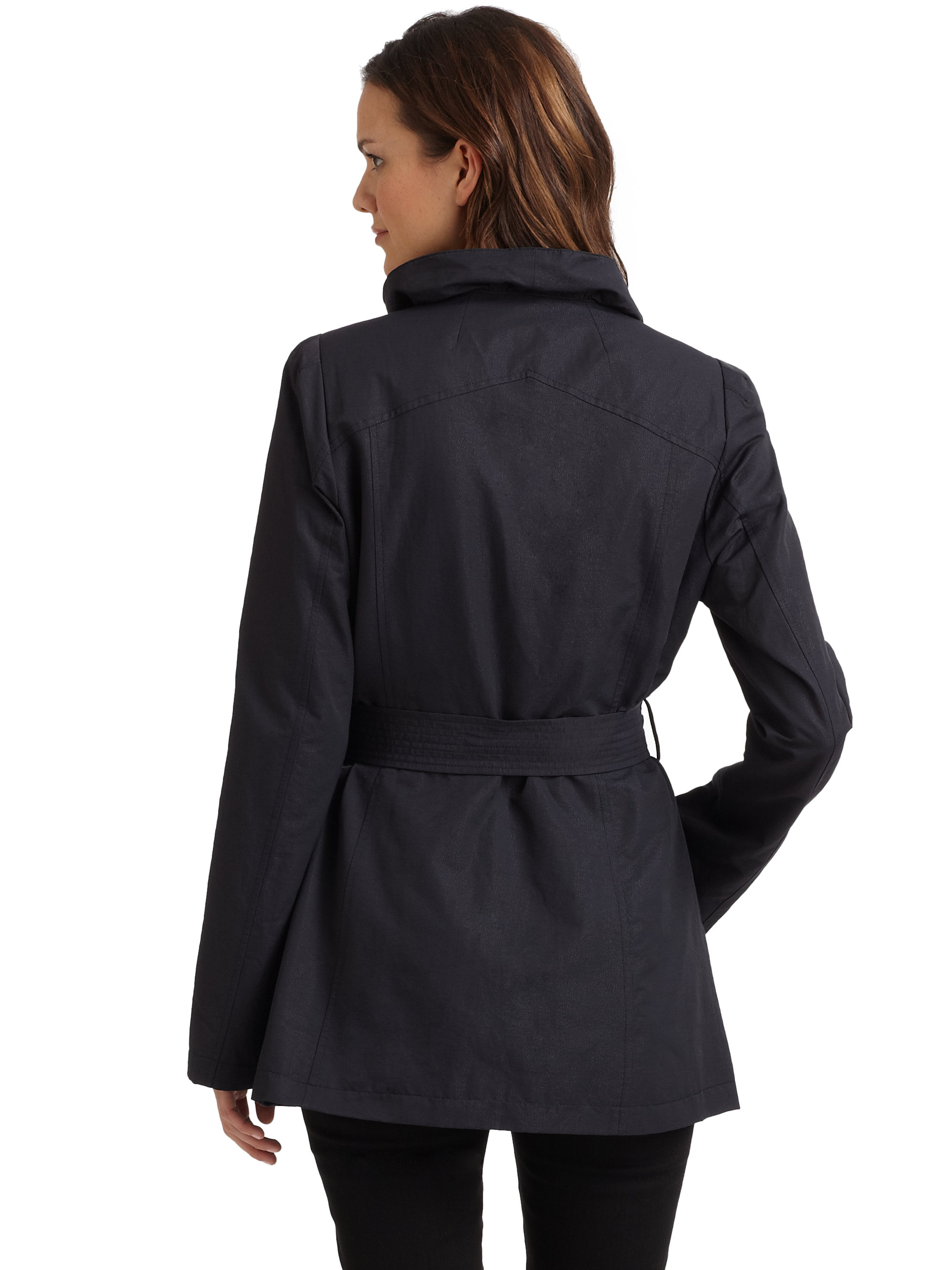 Tahari Jessica Ruffled Short Coat in Blue | Lyst