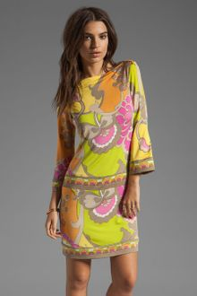 Trina Turk Dress on Trina Turk Pinkerton Bow Dress In Yellow  Key Lime    Lyst