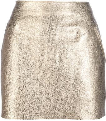3.1 Phillip Lim Crushed Foil Skirt - Lyst