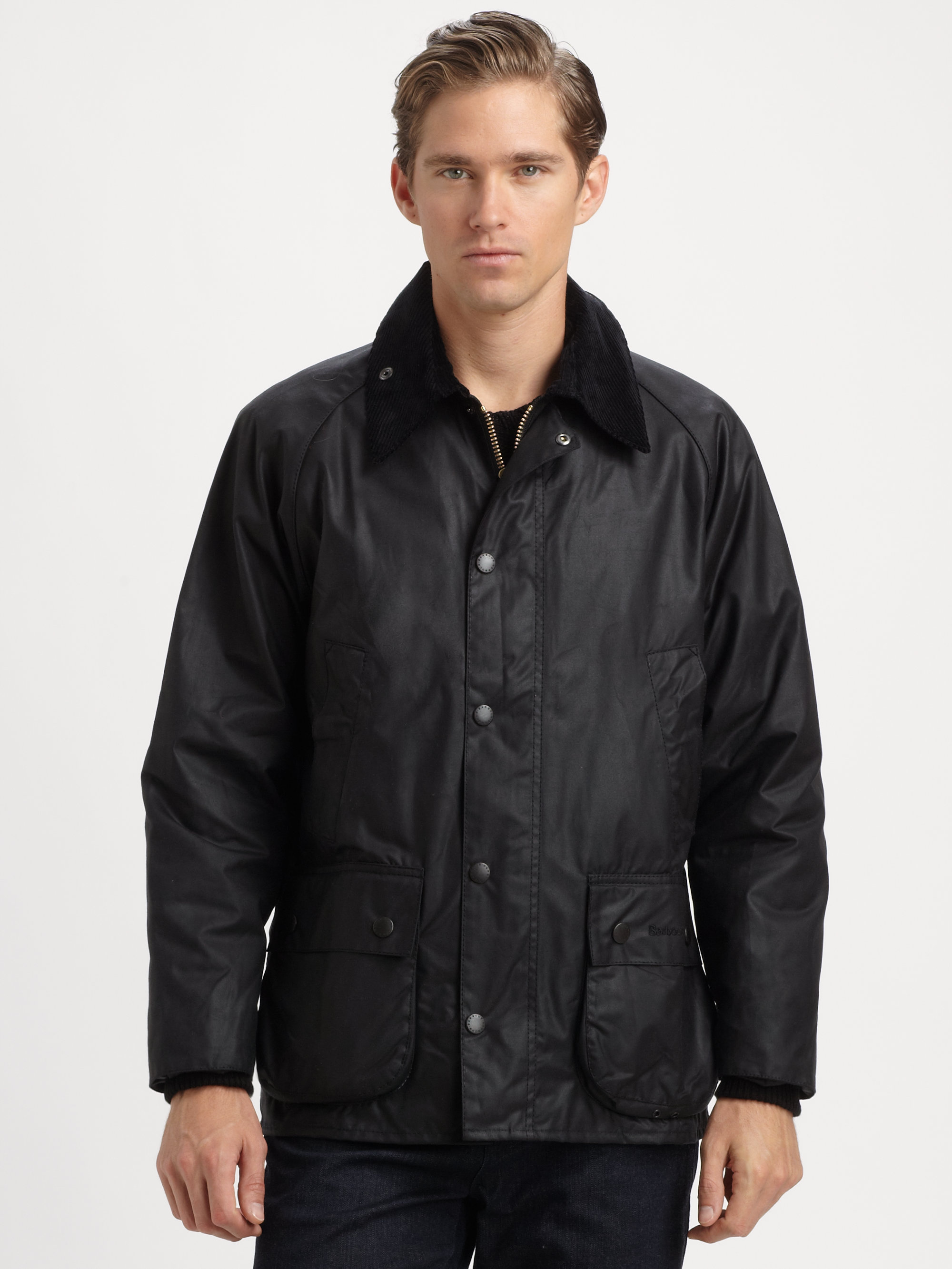 Lyst Barbour Bedale Waxed Cotton Jacket In Black For Men