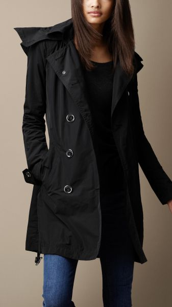 black trench coat with hood - photo #34