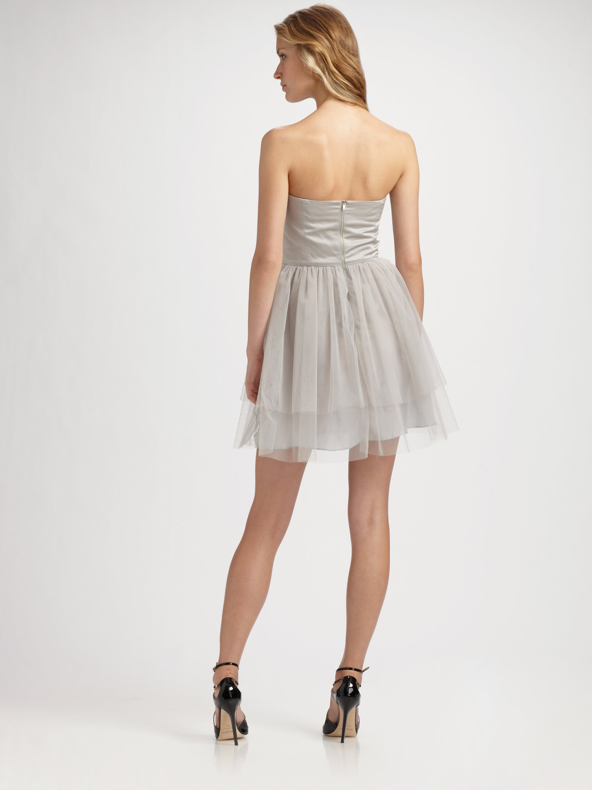 Kara janx Presley Strapless Tutu Dress in Gray | Lyst