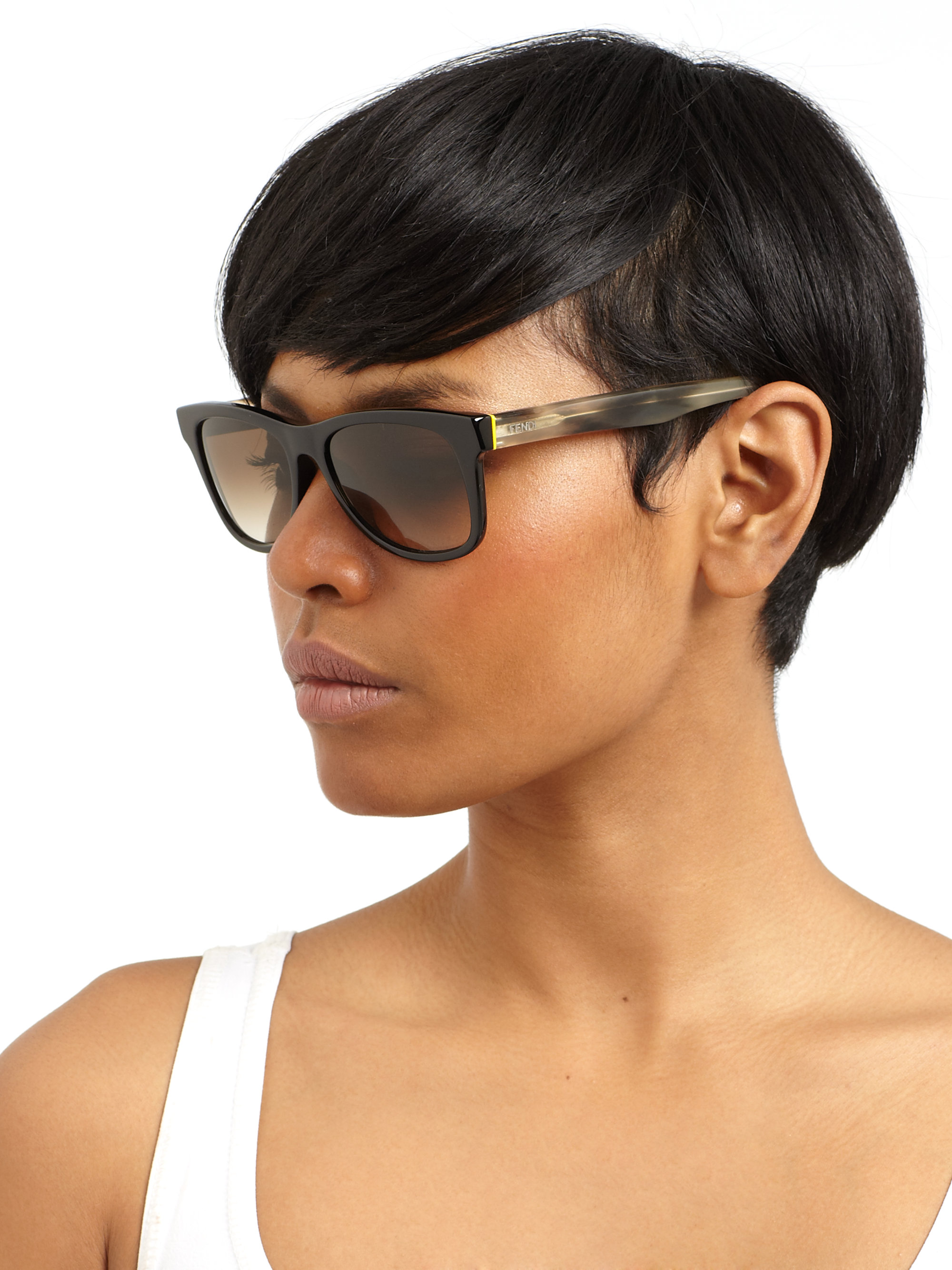 wayfarer square  Fendi Wayfarer Square Sunglasses in Black