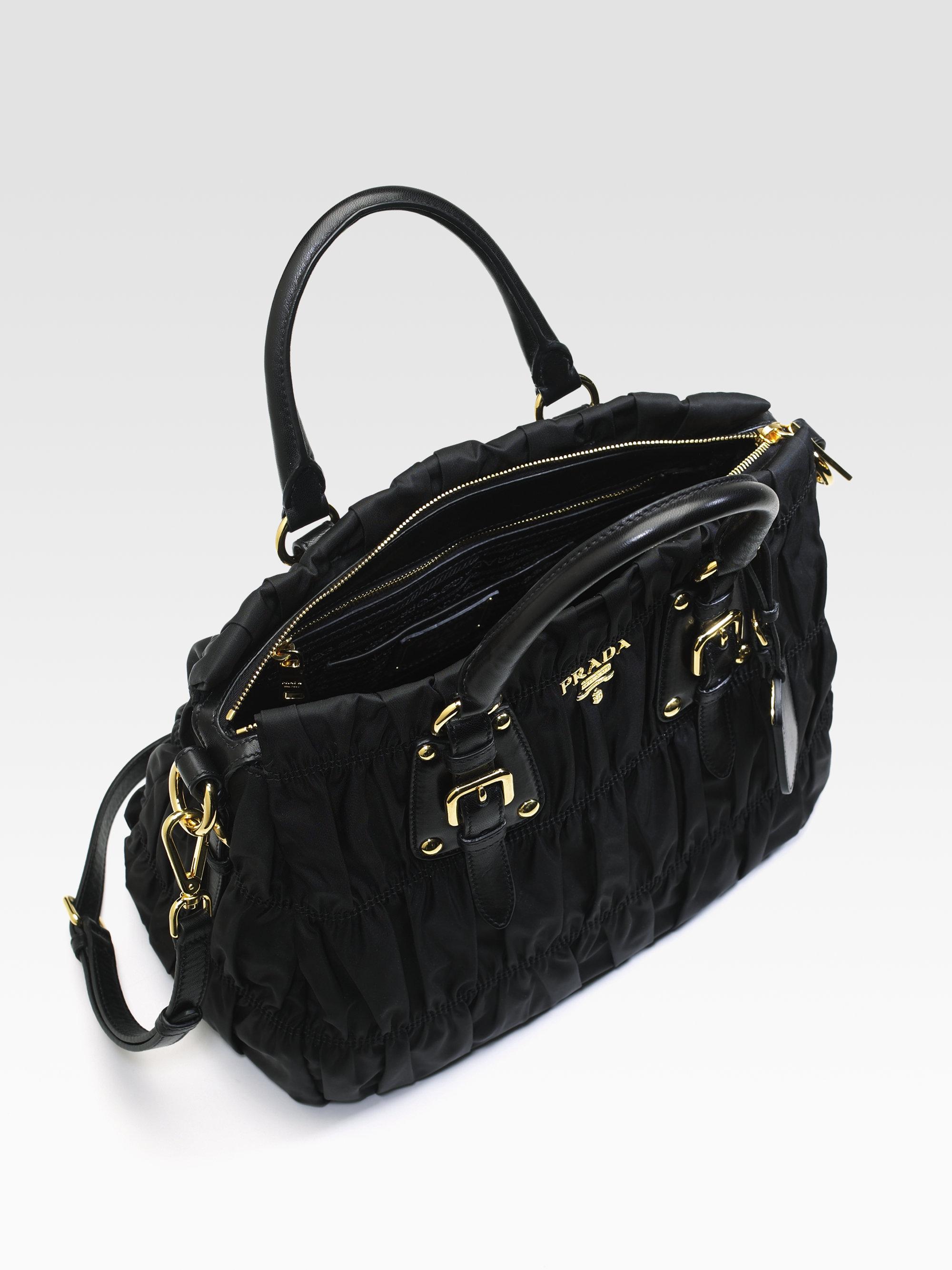 8bb55bbacc3f ... good lyst prada tessuto gaufre tote bag in black 44531 2dfa4
