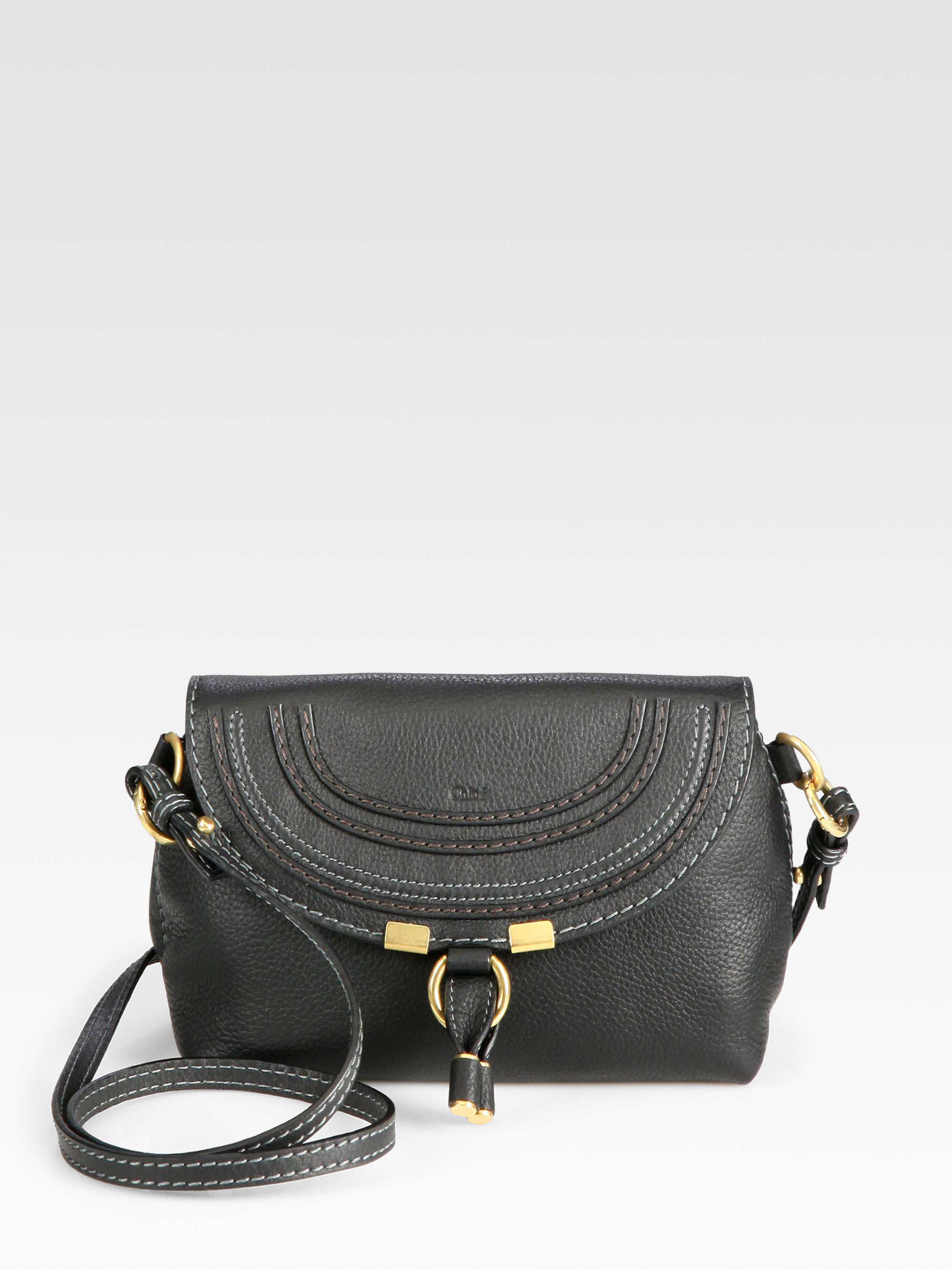 Chlo¨¦ Marcie Crossbody Bag in Black | Lyst