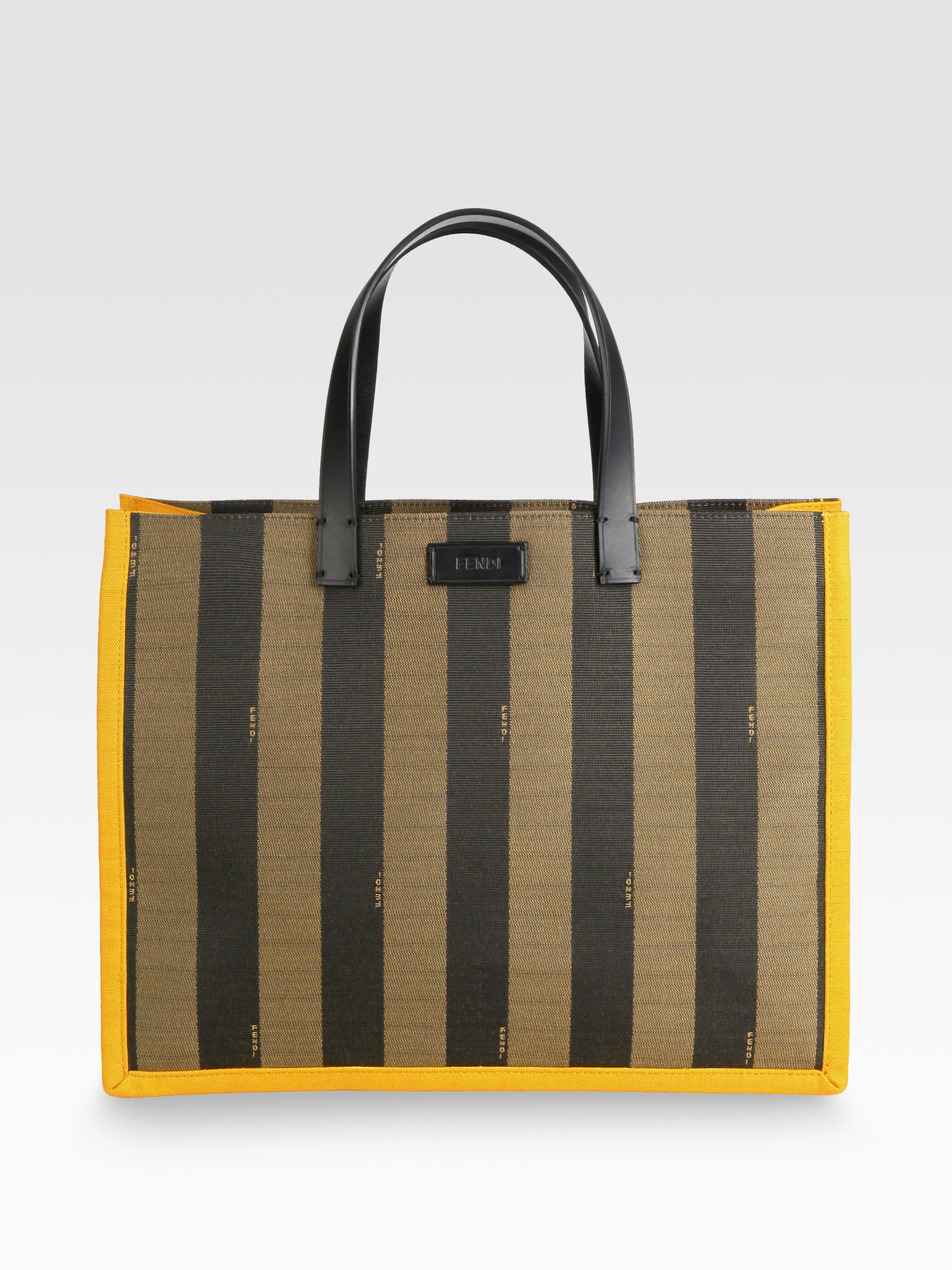 fef876b64085 Gallery. Previously sold at  Saks Fifth Avenue · Women s Fendi Pequin  Women s Coated Canvas Totes ...
