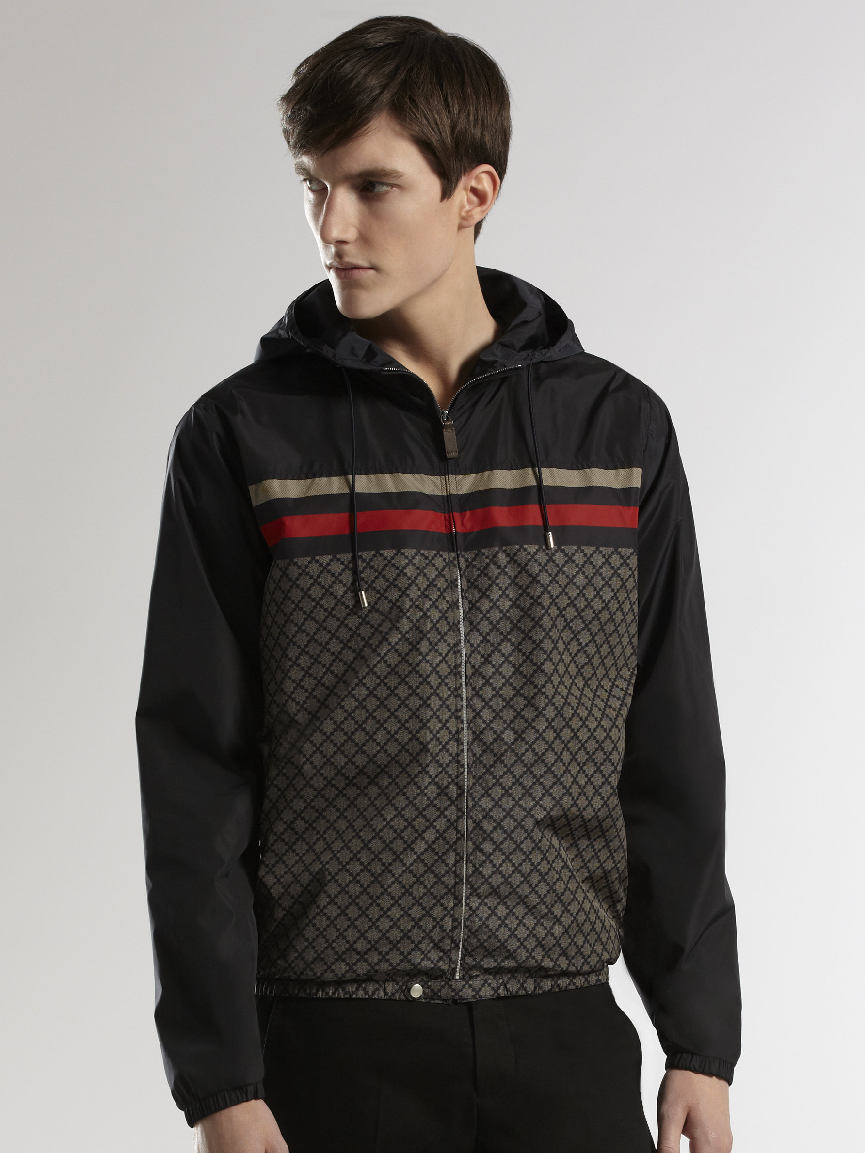 4ab511ff0 Gucci Iconic Kway Jacket in Blue for Men - Lyst
