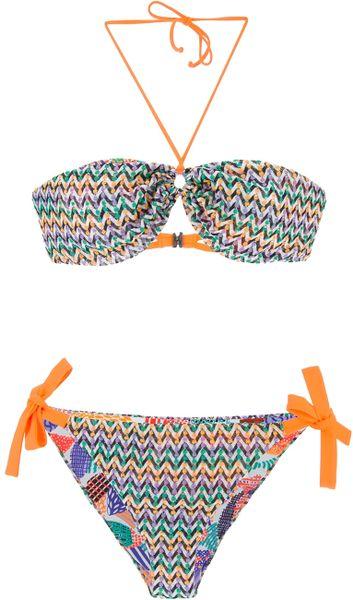 Missoni print bikini