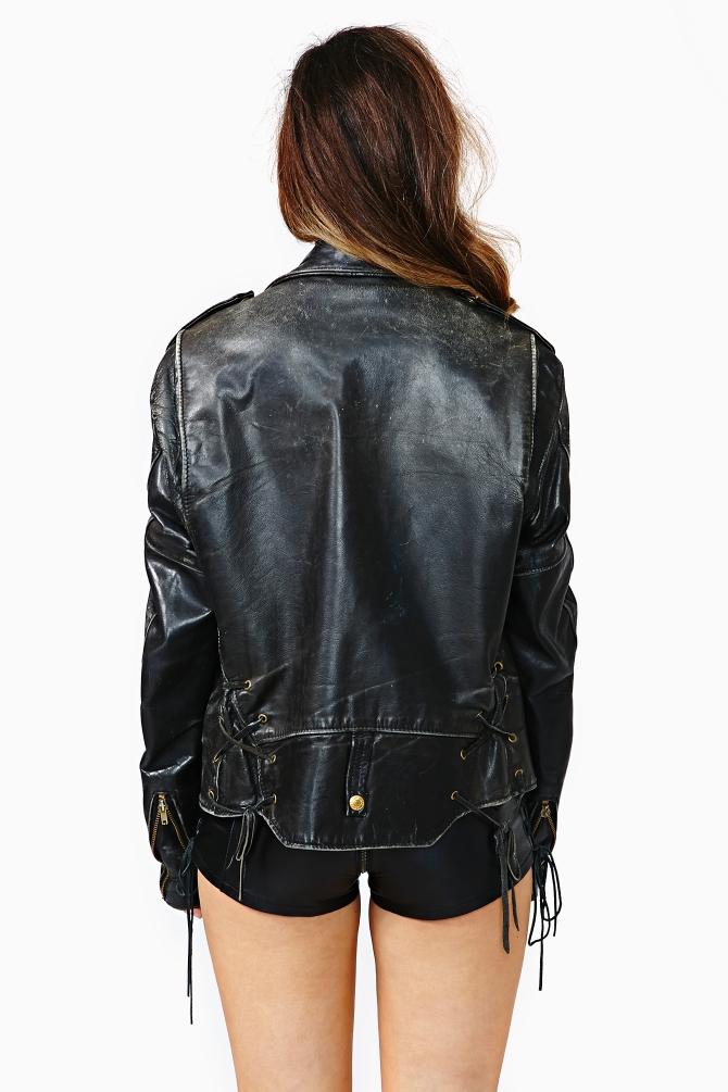 Nasty Gal Badass Schott Leather Jacket In Black Lyst