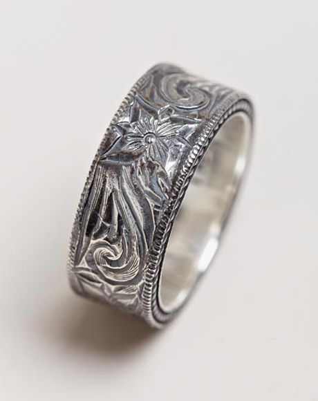 nonnative mens western flower ring in silver for lyst