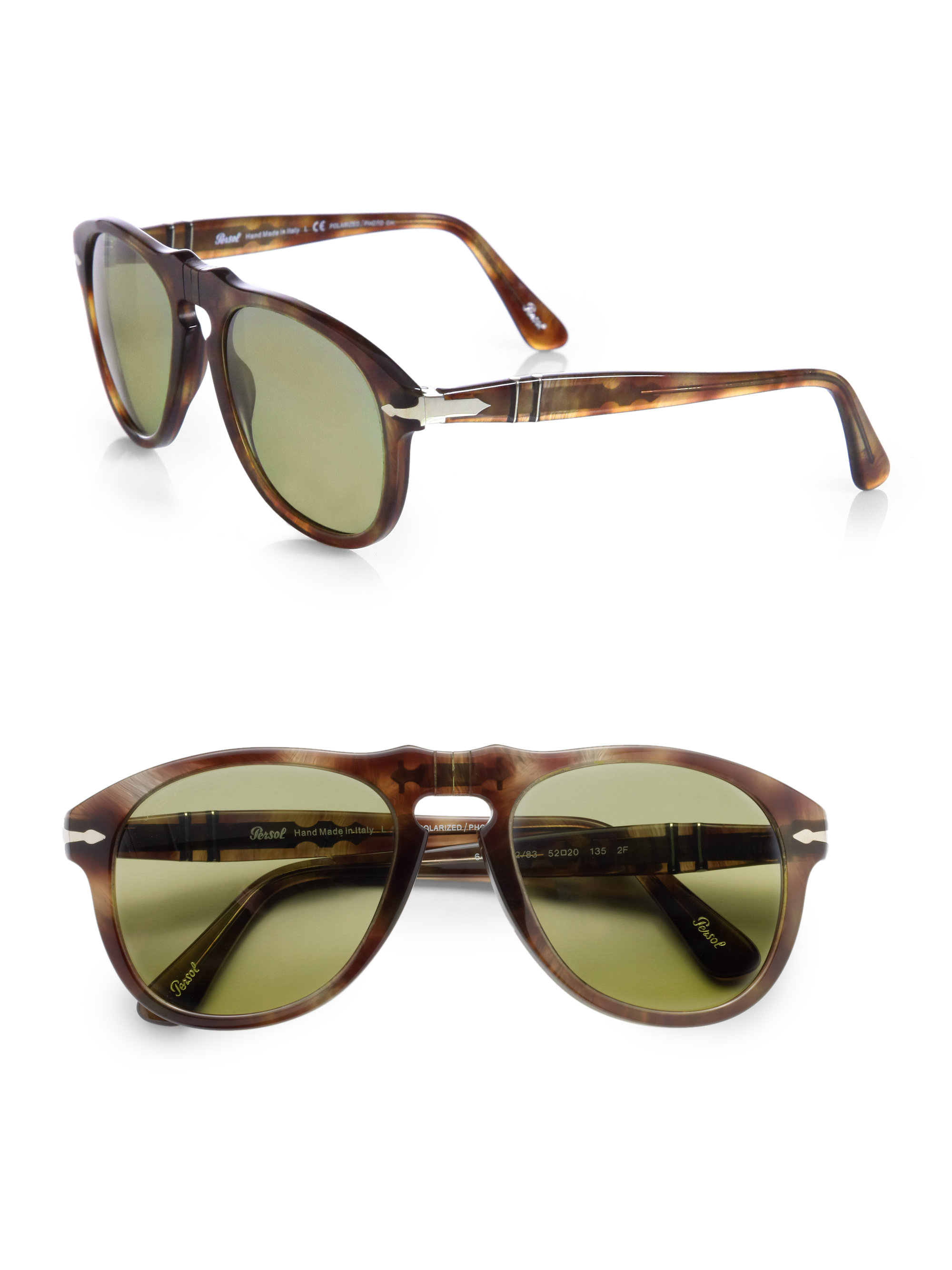 Keyhole Sunglasses  persol retro keyhole sunglasses in brown for men lyst