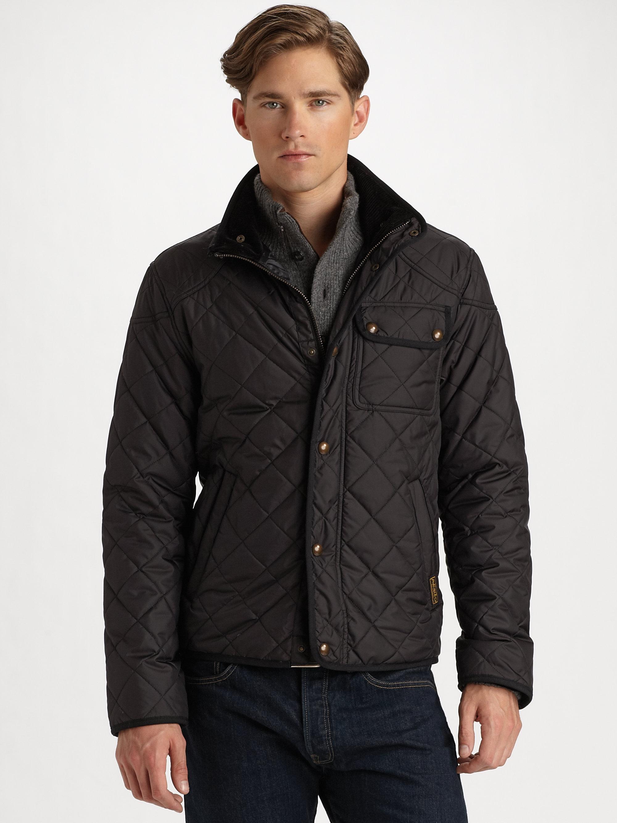 Polo ralph lauren Richmond Quilted Jacket in Black for Men | Lyst : ralph lauren quilted blazer - Adamdwight.com
