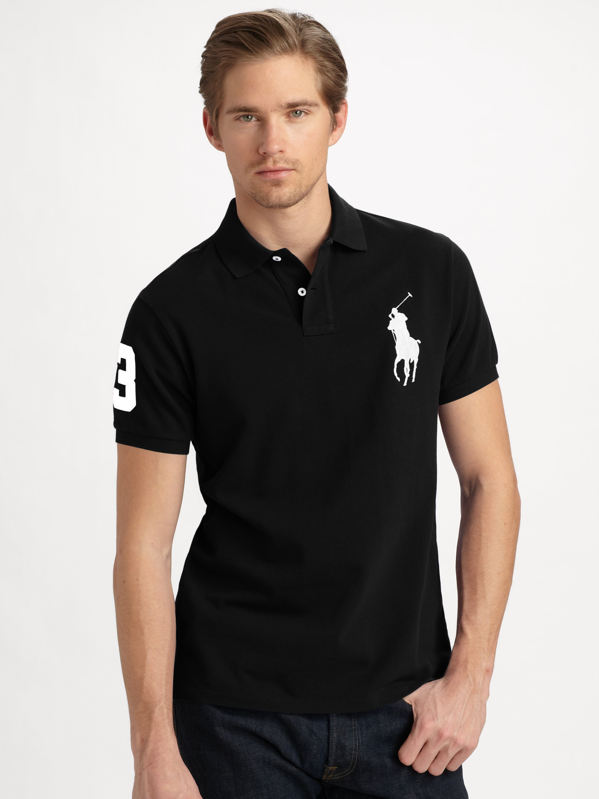 Buy Polo Ralph Lauren Men\u0026#39;s Red Customfit Big Pony Polo, starting at $98. Similar products also available. SALE now on!