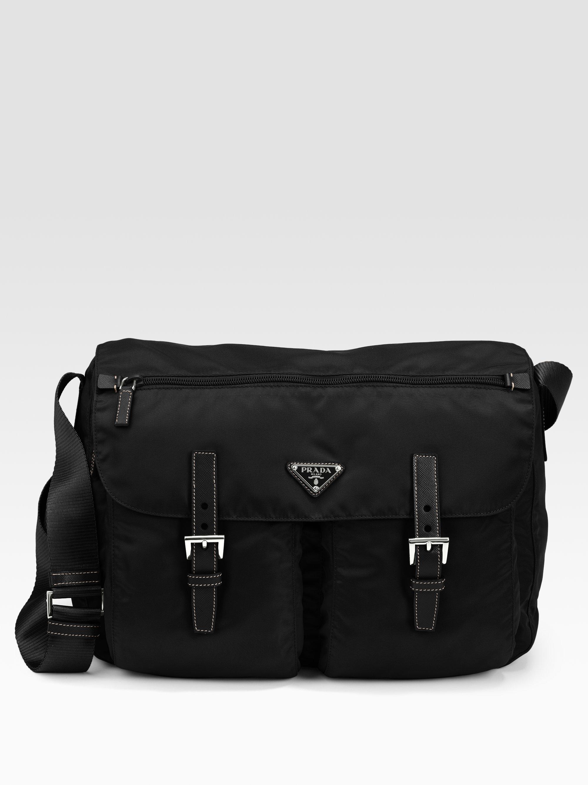 920e5c25e243 ... germany prada vela two pocket messenger bag in black for men lyst 1608a  92c32