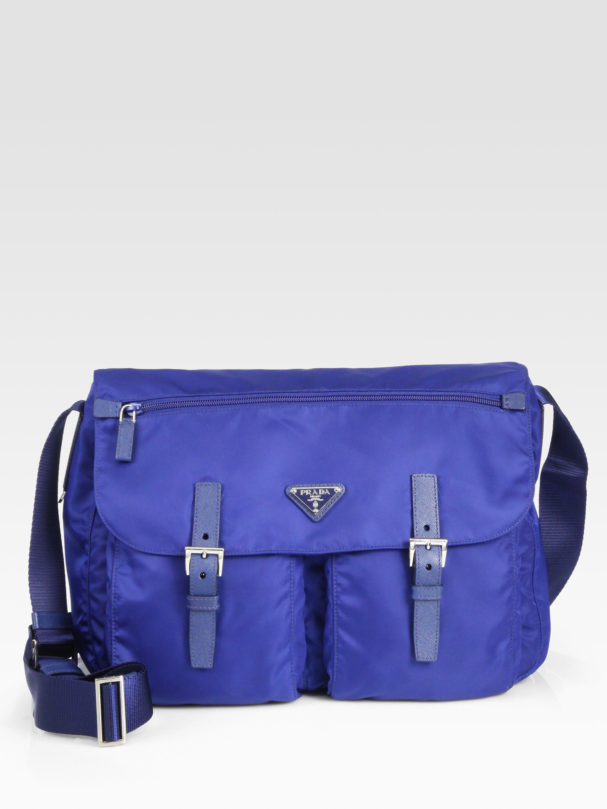 593230c60575 Prada Vela Bag Blue | Stanford Center for Opportunity Policy in ...