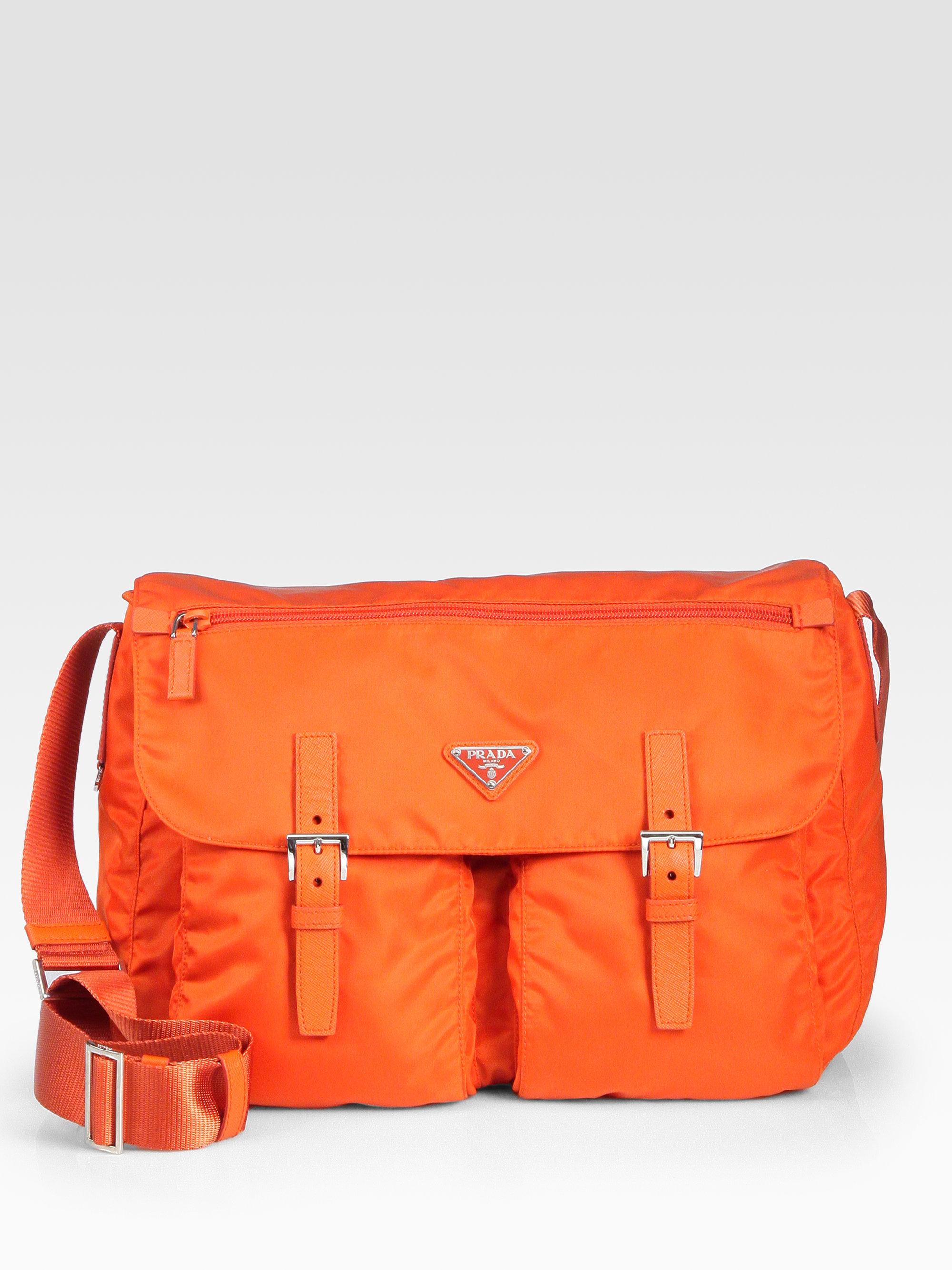 21145c9e1429 Lyst - Prada Vela Messenger in Orange for Men