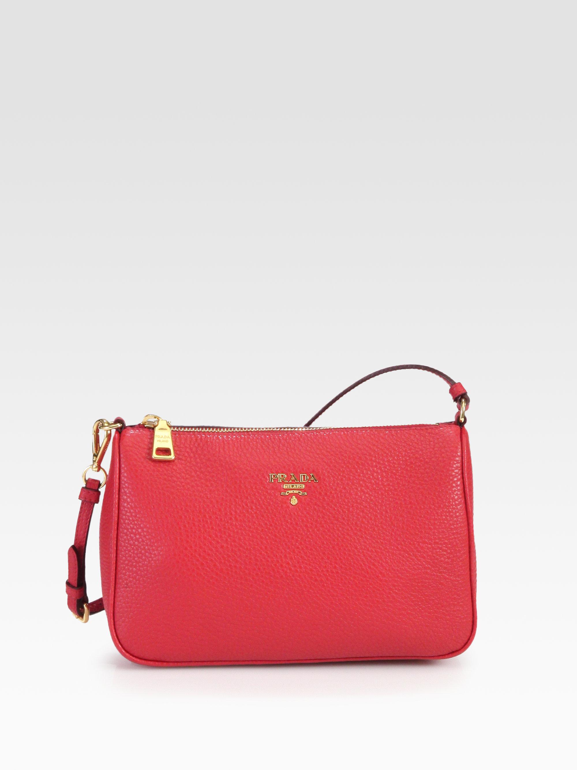 wholesale prada handbags authentic - Prada Daino Mini Hobo Bag in Red (rosso-red) | Lyst