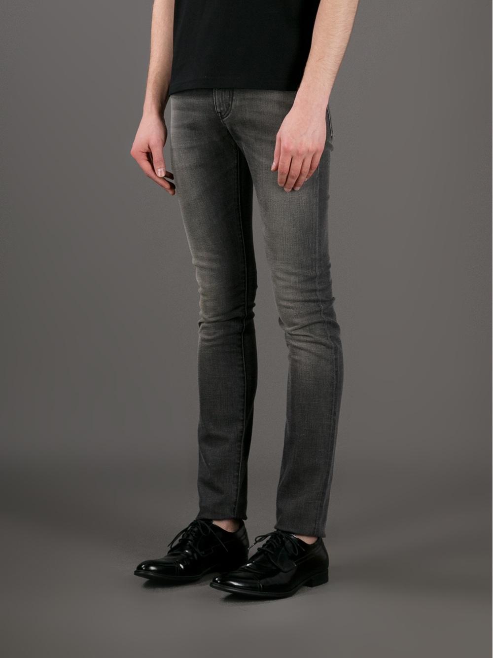 Black washed skinny jeans Saint Laurent 44H7P85ep