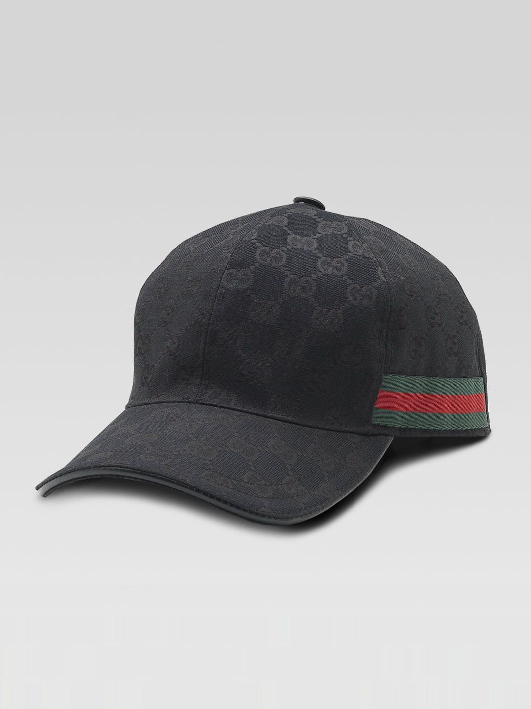 gucci canvas baseball hat in black for lyst