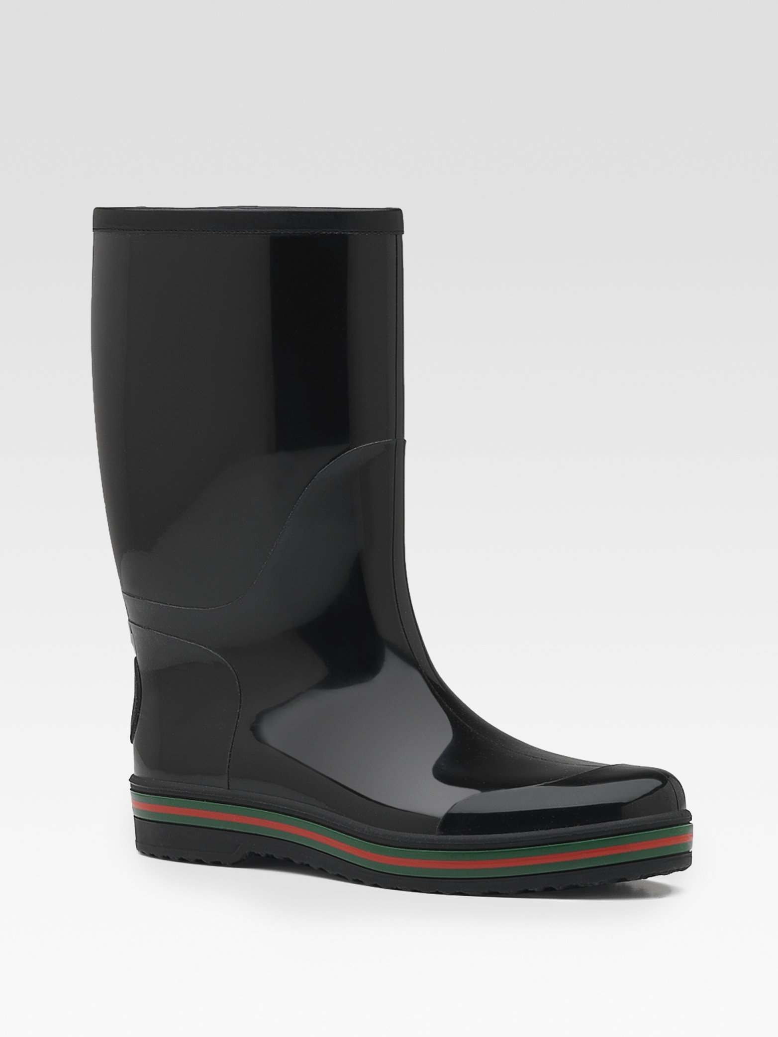Gucci Rain Boot In Black For Men Lyst