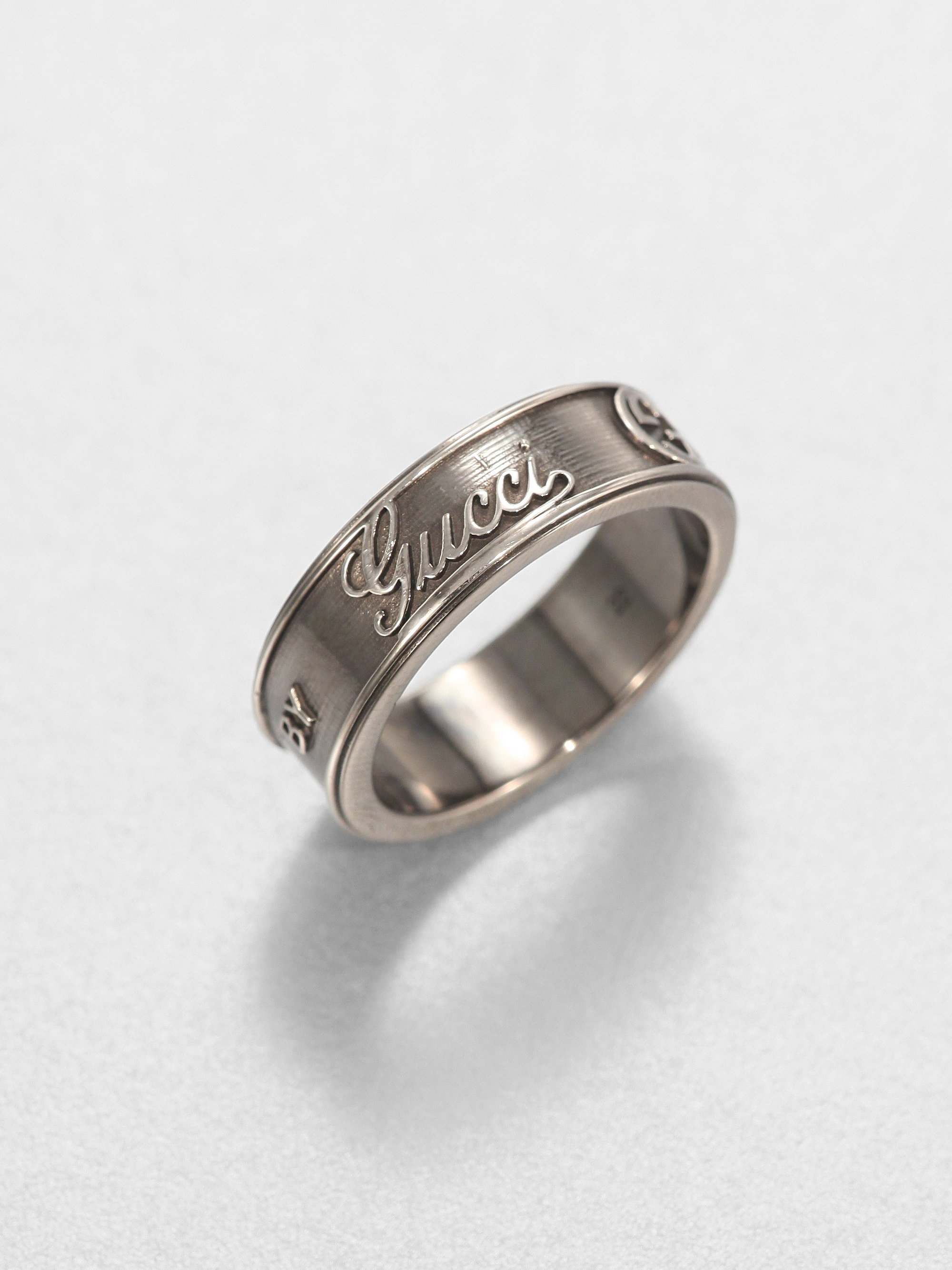 Gucci Gg Craft Large Ring In Metallic For Men Lyst
