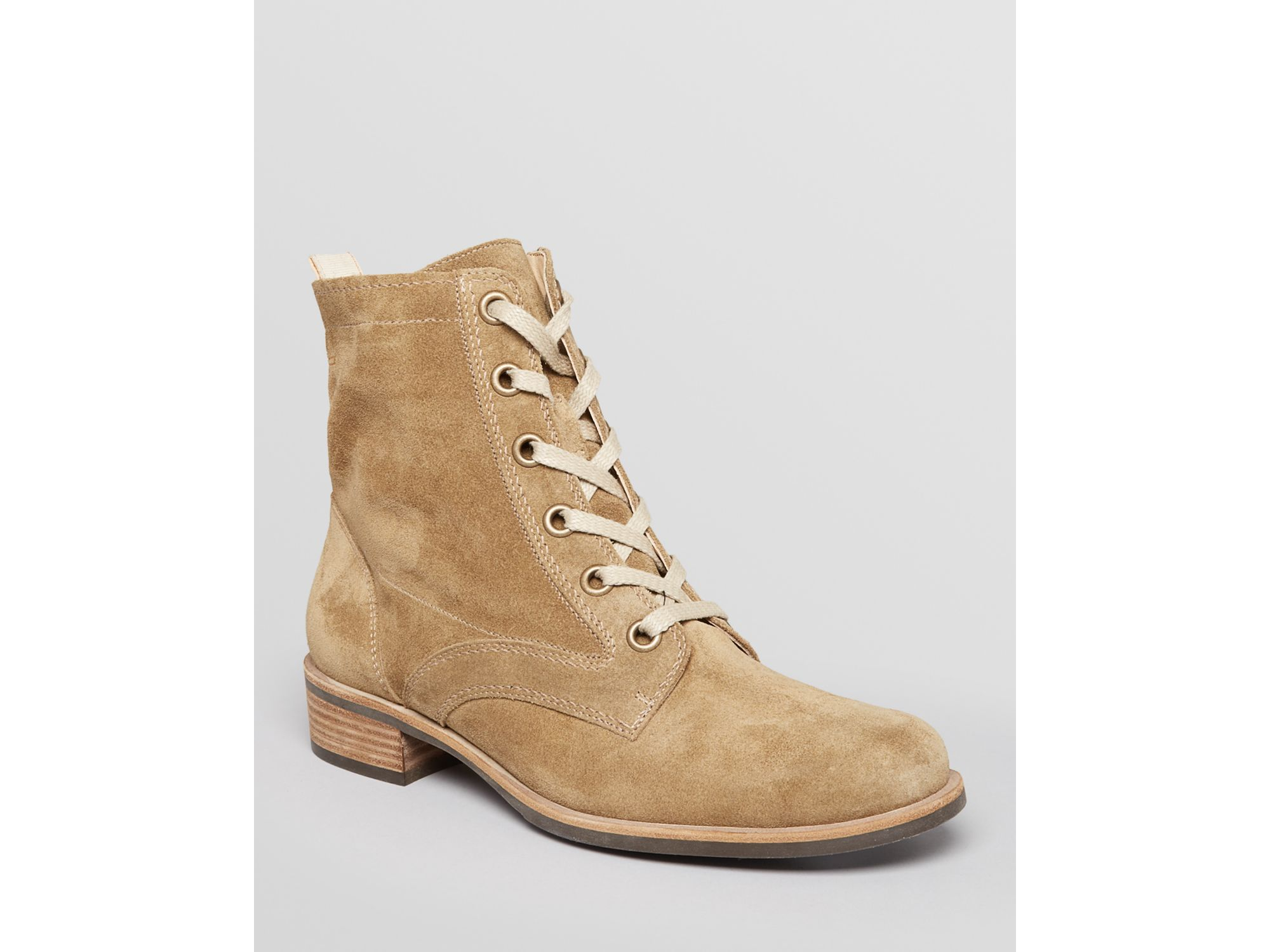 cfad1c58248cc Lyst - Paul Green Lace Up Booties Raleigh in Natural
