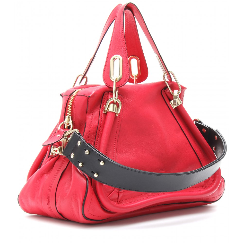Chlo¨¦ Paraty Medium Leather Shoulder Bag with Military Strap in ...
