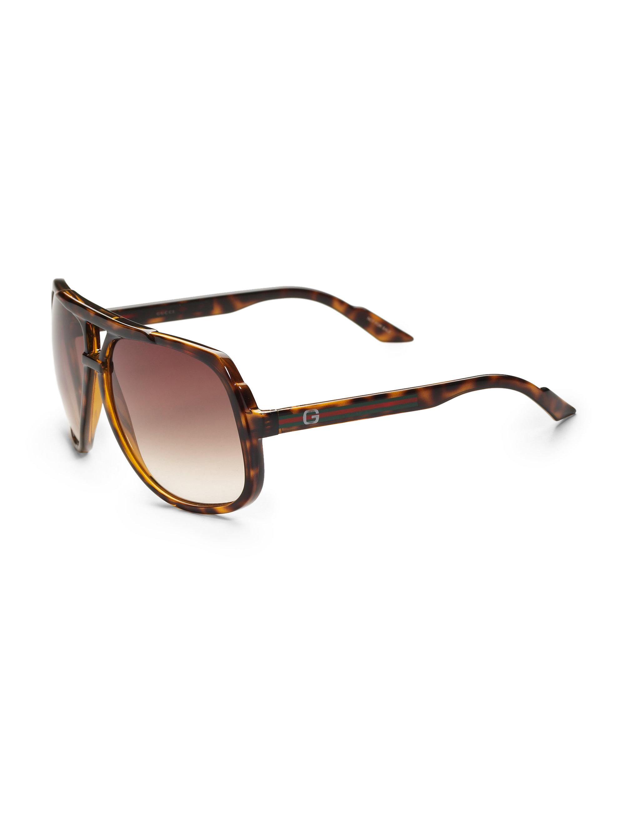 24b82674ec Carrera Plastic Aviator Sunglasses 53 0086 Havana W6. Gallery. Lyst Gucci Plastic  Aviator Sunglasses In Brown For Men