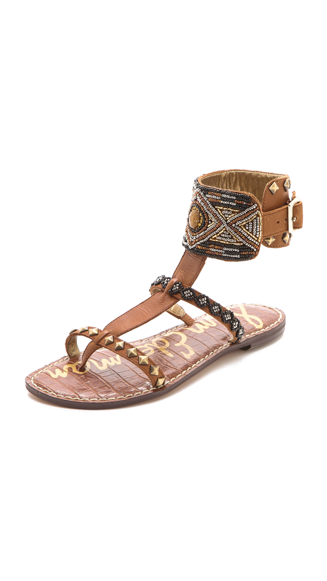 Sam Edelman Gabrianna Ankle Cuff Sandals In Brown Lyst