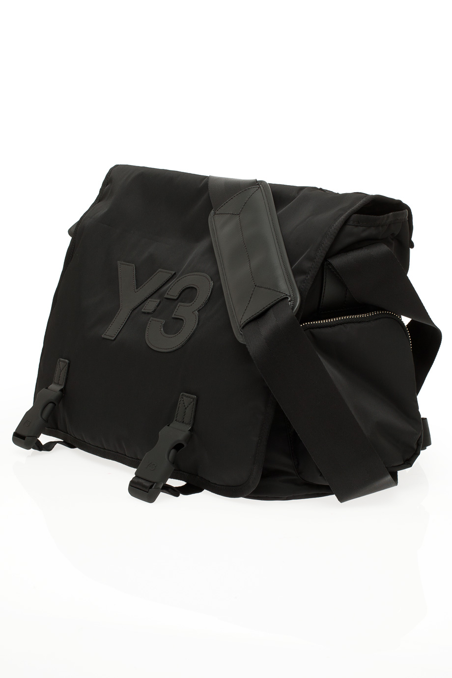 Y 3 Day Messenger Bag In Black Lyst