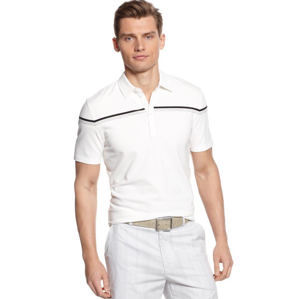 Calvin klein short sleeve slim fit stretch pique polo for Calvin klein slim fit stretch shirt
