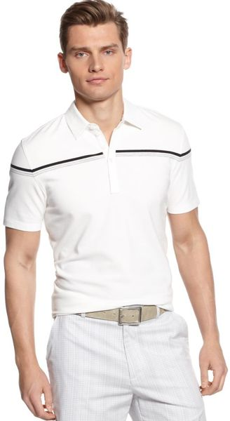 Calvin Klein Short Sleeve Slim Fit Stretch Pique Polo Shirt - Lyst