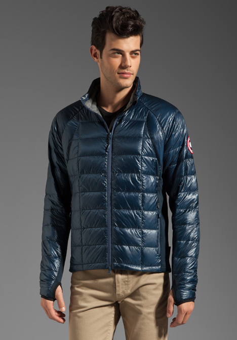 canada goose lite hybridge hooded jacket men's