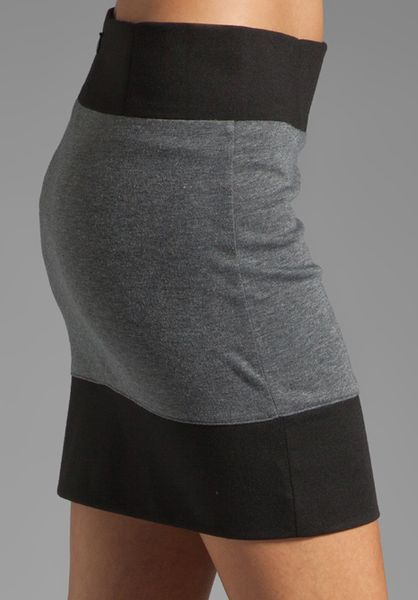 David Lerner Colorblock Mini in Black Heather Grey in Gray