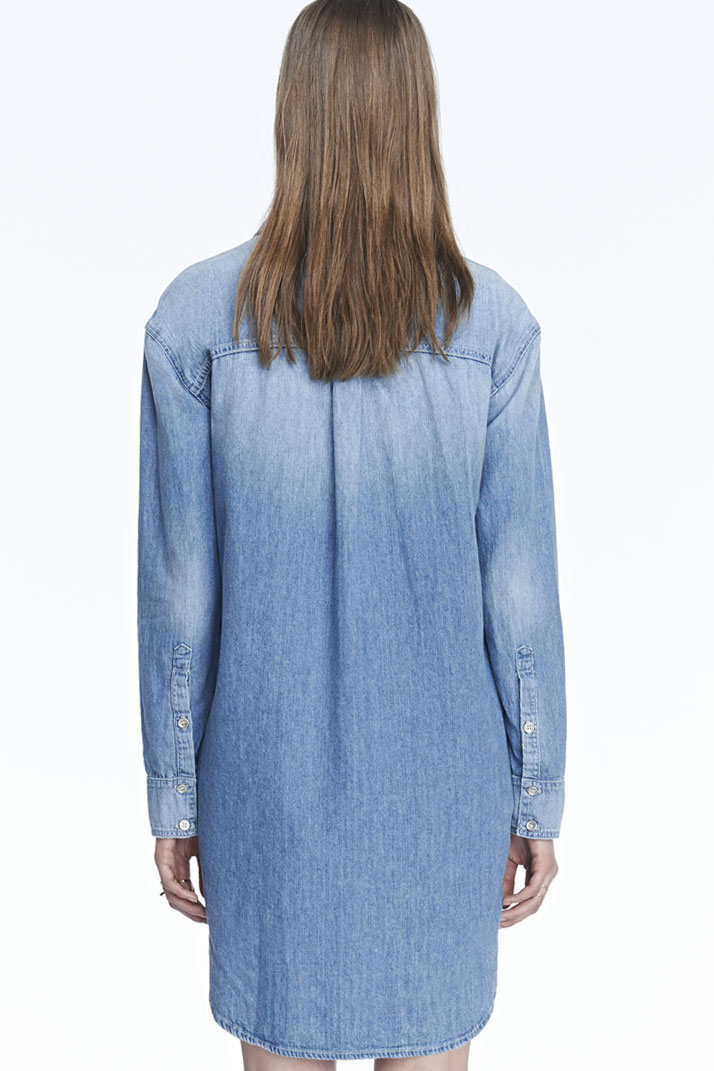 Lyst J Brand Marlow Shirt Dress In Blue