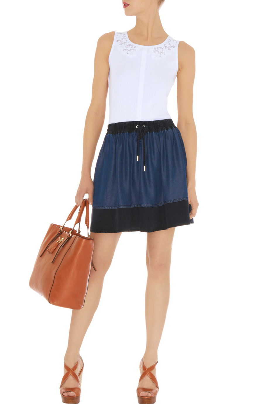 ANNE WEYBURN La Redoute Womens Embroidered Full Skirt In Draping Denim. Sold by La Redoute. $ trickytrydown2.tk Skirt Bohemia Denim Skirt. trickytrydown2.tk Women Denim Skirt Knee Length High Waist Pencil Skirt. Sold by 2 Sellers. $ Bluberry Denim Bluberry Women's Pencil-cut Denim Skirt.