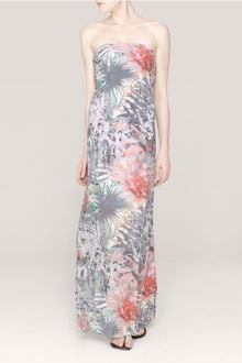 Strapless Maxi Dress on Alice   Olivia Missy Strapless Maxi Dress In Multicolor  Multi Colour