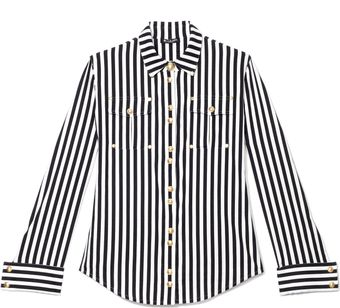 Balmain Striped Cotton Shirt - Lyst