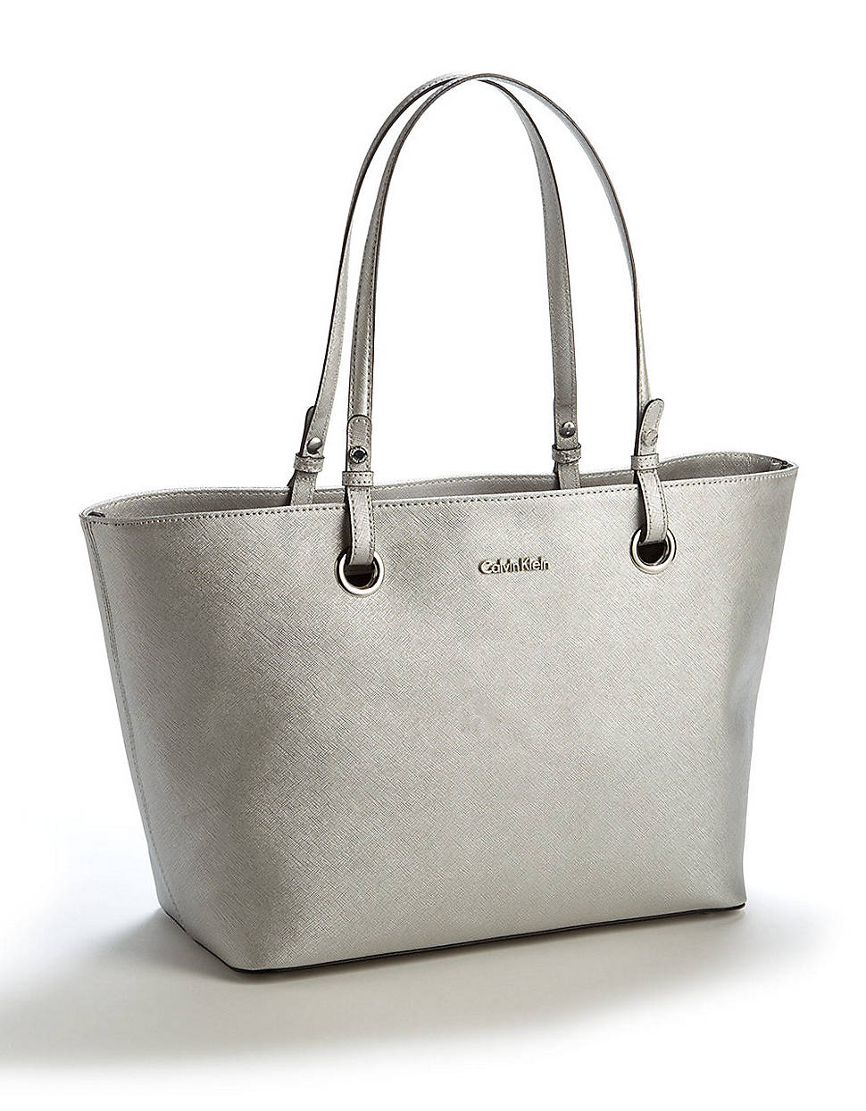 88fe0bdf5d6 Calvin Klein Leather Tote Bag in Metallic - Lyst