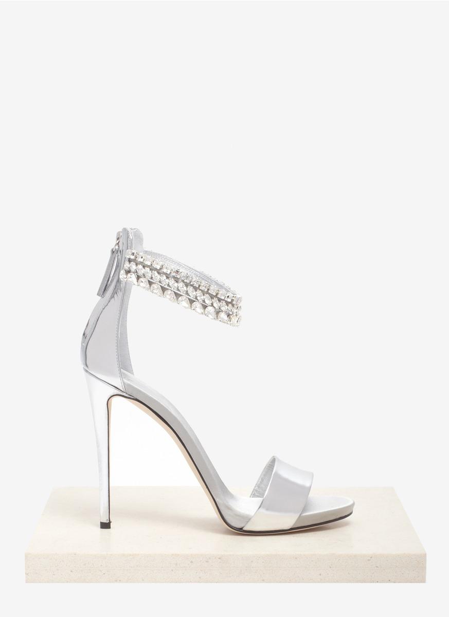 83e06549b Lyst - Giuseppe Zanotti Crystal Embellished Metallic Sandals in Metallic