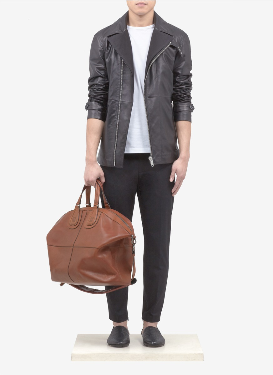 45ebe27491 Givenchy Nightingale Leather Holdall Bag in Brown for Men - Lyst