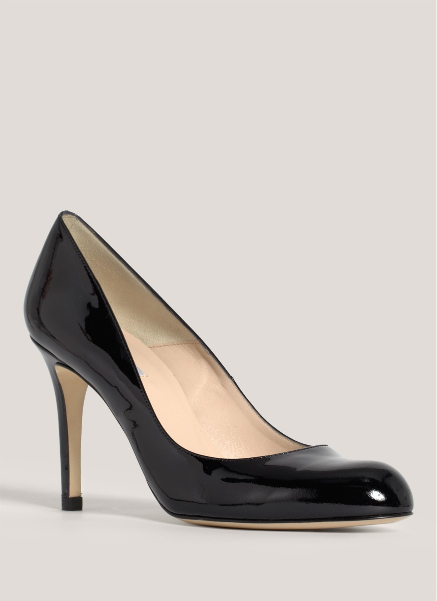 Patent Leather Shoes With Cocktail Dress