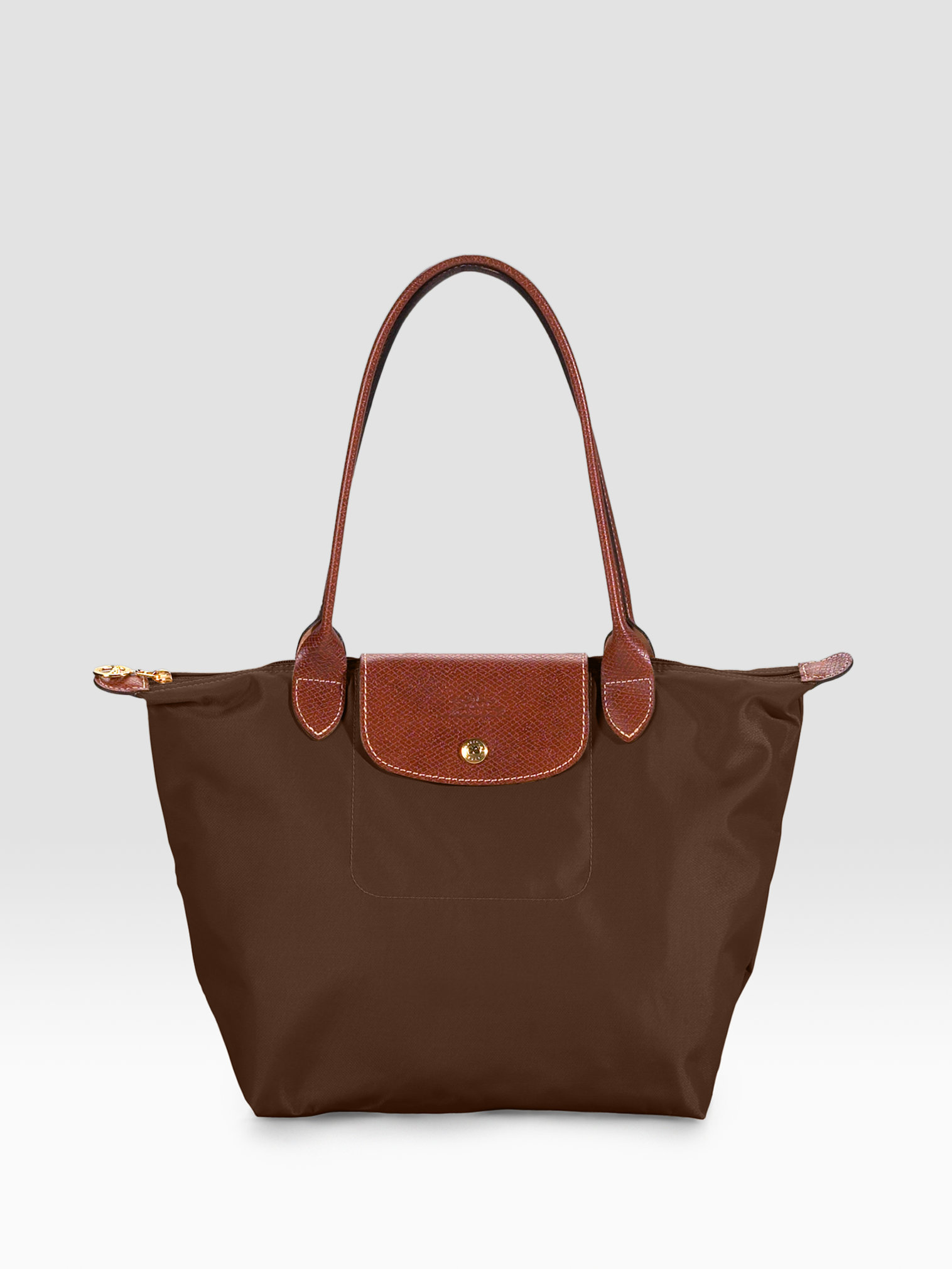 Longchamp Le Pliage Medium Shoulder Tote In Brown Chocolate Lyst